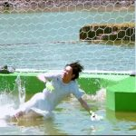 【とんねるずのスポーツ王は俺だ‼】成田凌、芸人ばりに体を張り池へ飛び込む!