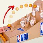 NBAのバスケットボールボードゲームを段ボールで作ろう
