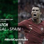 #WorldCupAtHome   Portugal v Spain (Russia 2018)