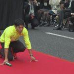 メダリストが御堂筋疾走 大阪で五輪の感動再現