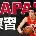 バスケ日本代表チームの練習