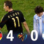 [懐かしハイライト]  アルゼンチン VS ドイツ 2010 W杯 準々決勝