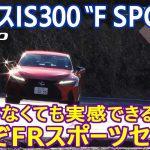 """スポーツセダンの魅力を再認識させてくれる一台。改良型「レクサスIS300""""F SPORT""""」の走りをリポートする。"""