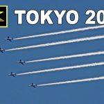 [4K] <予行>ブルーインパルス 東京オリンピック開会日 展示飛行 / Tokyo Olympics opening day exhibition flight (rehearsal)
