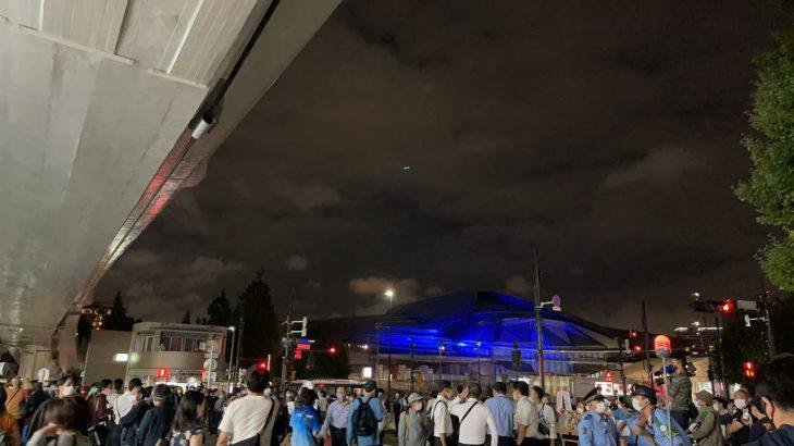 東京オリンピック2020‼️閉会式‼️ 千駄ヶ谷駅前‼️