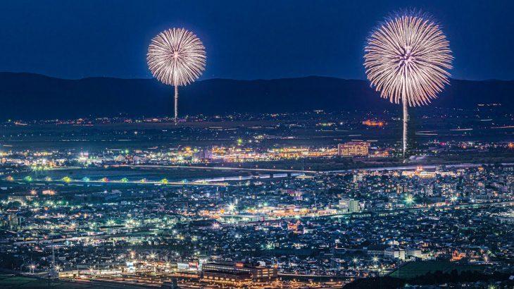 [4K] 長岡花火 2021 オリンピック色に染まった長生橋 – Nagaoka Fireworks 2021 with a bridge lit up for the Tokyo Olympic –