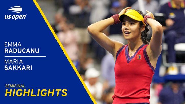 Emma Raducanu vs Maria Sakkari Highlights | 2021 US Open Semifinal