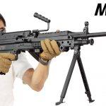 S&T FN M249 SAW E2 BK スポーツライン ミニミ 電動ガン レビュー M4マガジンが使える軽量で安価な軽機関銃