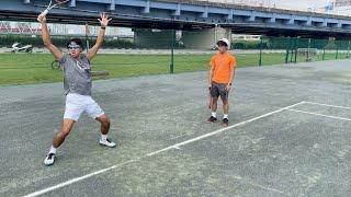 【テニス】サーブを教える元日本代表のコーチ