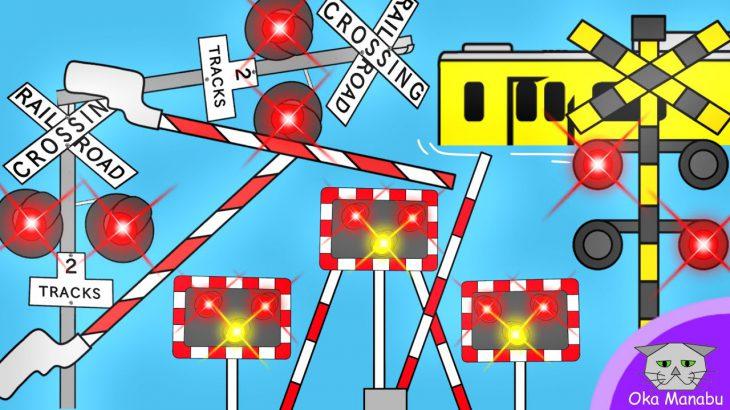 【 ふみきり アニメ 】 踏切 オリンピック 3 Railway Level Railroad Crossing Olympic Artistic swimming