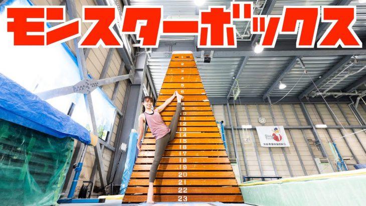 モンスターボックス何段跳べる!?元体操オリンピック選手がチャレンジ!
